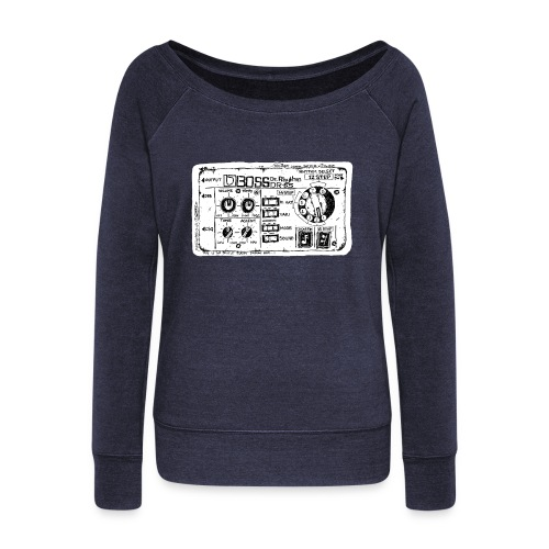 Drum Machine's R Ace! - Women's Boat Neck Long Sleeve Top