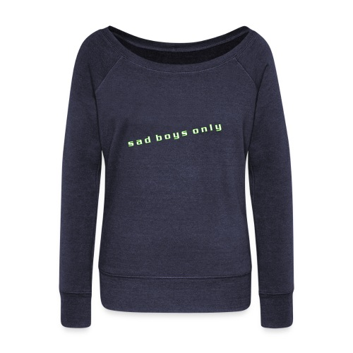 only_sad - Women's Boat Neck Long Sleeve Top