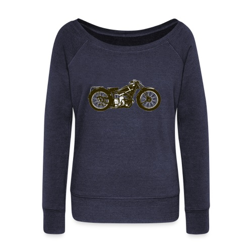 Classic Cafe Racer - Women's Boat Neck Long Sleeve Top