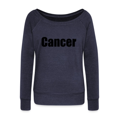 cancer - Women's Boat Neck Long Sleeve Top