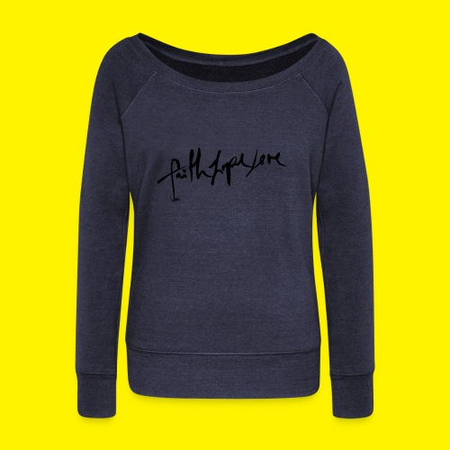 Faith Hope Love - Women's Boat Neck Long Sleeve Top