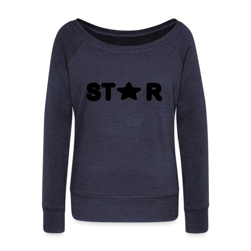 i see a star - Women's Boat Neck Long Sleeve Top