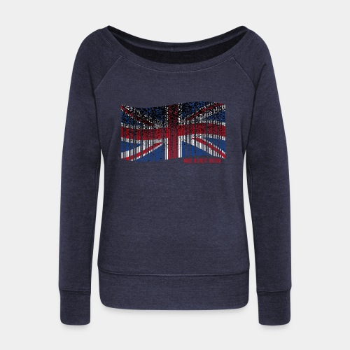 Made in Great Britain - Bluza damska Bella z dekoltem w łódkę