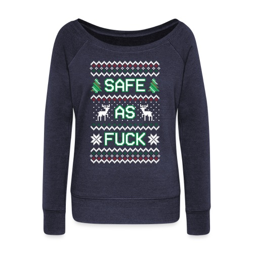 Christmas Jumper Safe AF - Women's Boat Neck Long Sleeve Top