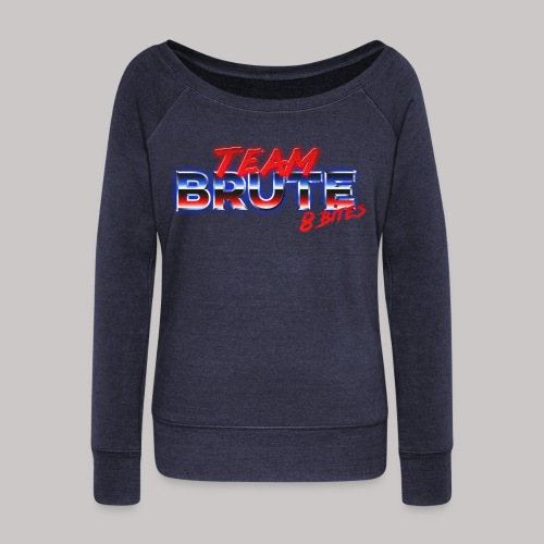 Team BRUTE Red - Women's Boat Neck Long Sleeve Top
