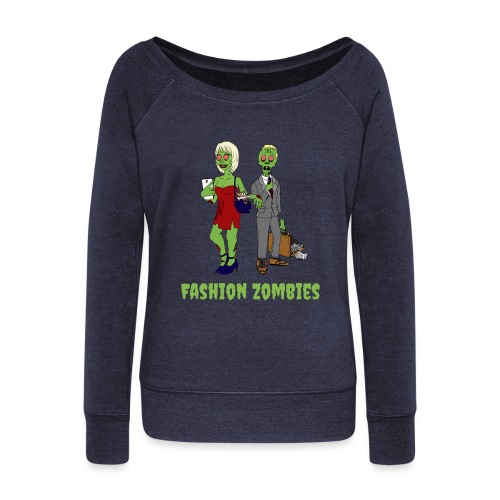 Fashion Zombie - Women's Boat Neck Long Sleeve Top