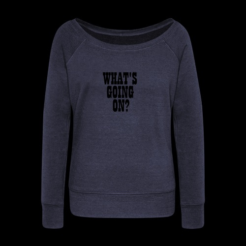 What's Going On? The Snuts - Women's Boat Neck Long Sleeve Top