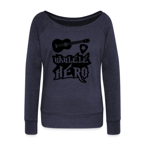 Ukelele Hero - Women's Boat Neck Long Sleeve Top