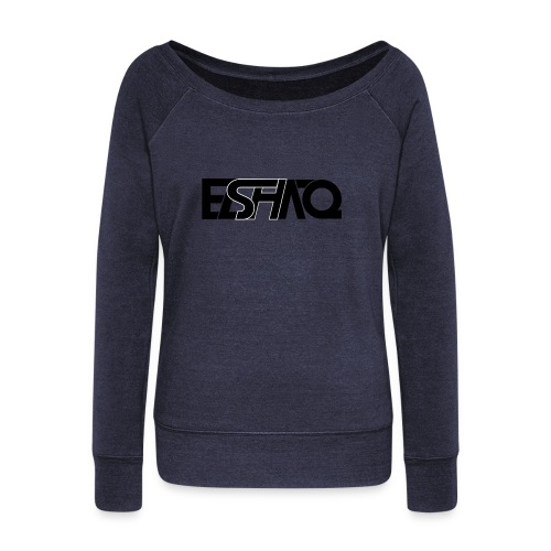 elshaq black - Women's Boat Neck Long Sleeve Top