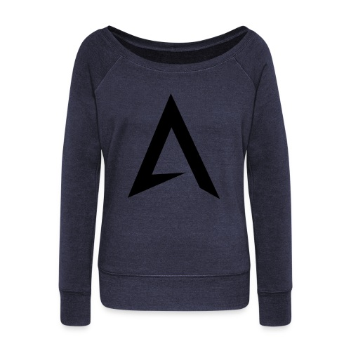 alpharock A logo - Women's Boat Neck Long Sleeve Top
