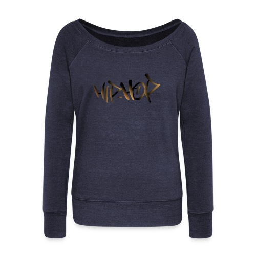 HIP HOP - Women's Boat Neck Long Sleeve Top