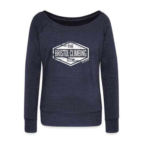 2000sq png - Women's Boat Neck Long Sleeve Top