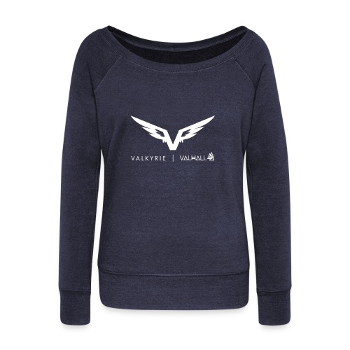 valkyriewhite - Women's Boat Neck Long Sleeve Top