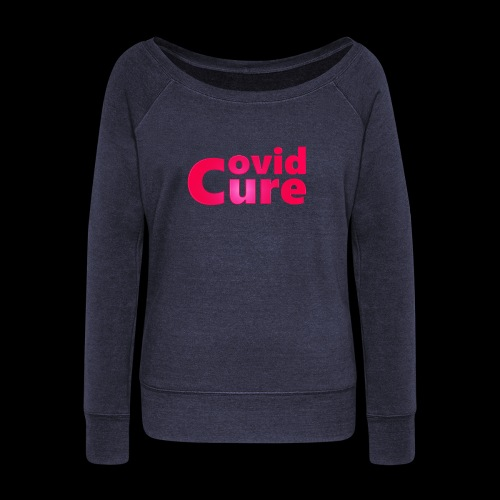Covid Cure [IMPACT COLLECTION] - Women's Boat Neck Long Sleeve Top