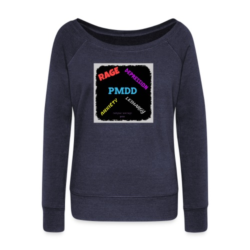 Pmdd symptoms - Women's Boat Neck Long Sleeve Top