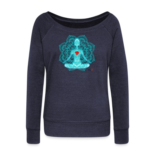 Meditation Moment - Women's Boat Neck Long Sleeve Top