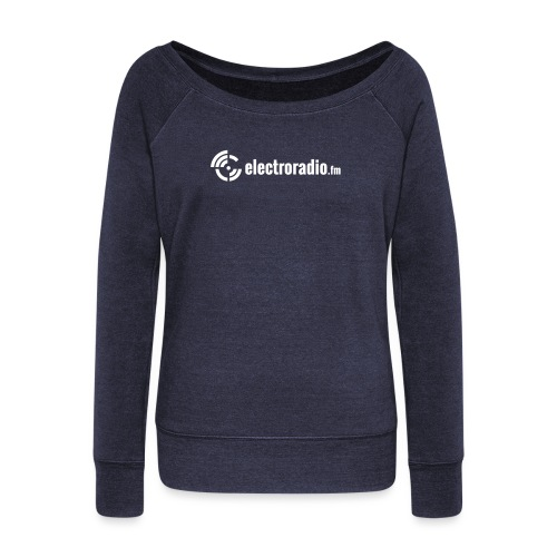 electroradio.fm - Women's Boat Neck Long Sleeve Top