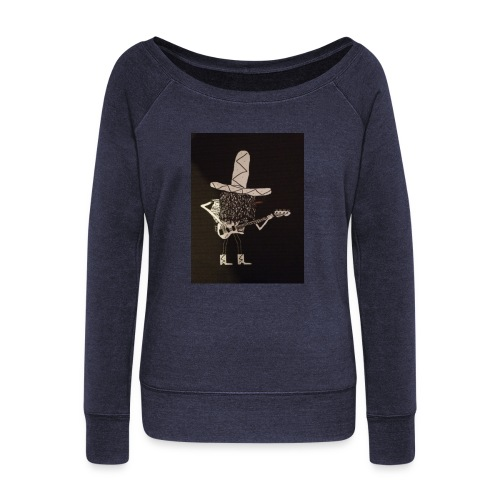 Mexican Bass Player - Women's Boat Neck Long Sleeve Top