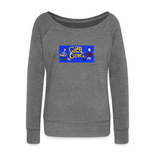 Game Coping Happy Banner - Women's Boat Neck Long Sleeve Top