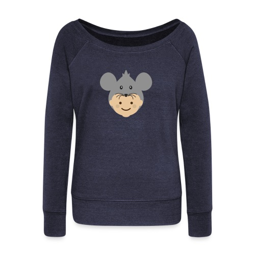 Mr Mousey | Ibbleobble - Women's Boat Neck Long Sleeve Top