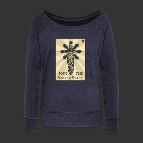 Join the Army of Swort - Women's Boat Neck Long Sleeve Top
