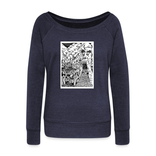 Sea Monsters T-Shirt by Backhouse - Women's Boat Neck Long Sleeve Top