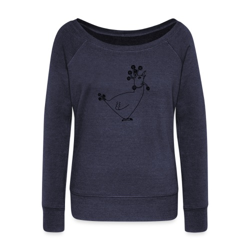 Cosmic Chicken - Women's Boat Neck Long Sleeve Top