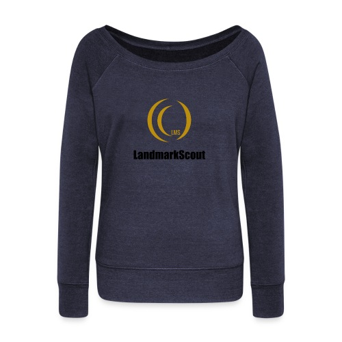 Tshirt Yellow Front logo 2013 png - Women's Boat Neck Long Sleeve Top