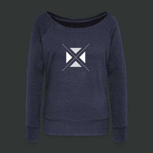hipster triangles - Women's Boat Neck Long Sleeve Top