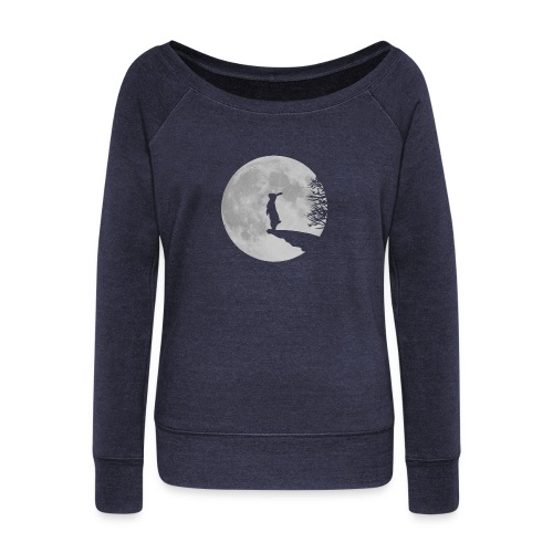 rabbit_wolf-png - Women's Boat Neck Long Sleeve Top