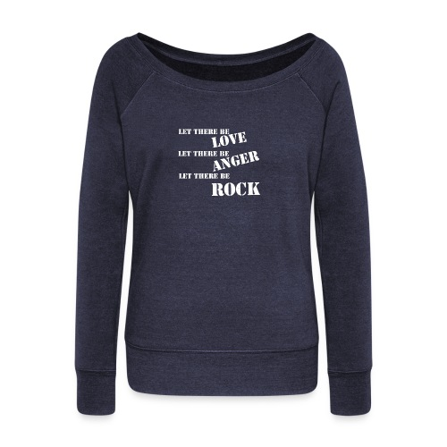 Love Anger Rock - Women's Boat Neck Long Sleeve Top