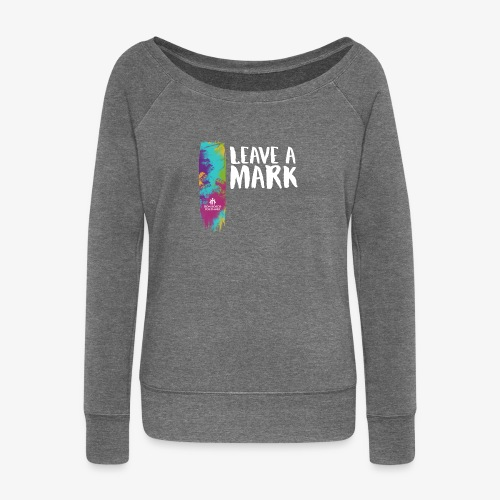 Leave a mark - Women's Boat Neck Long Sleeve Top