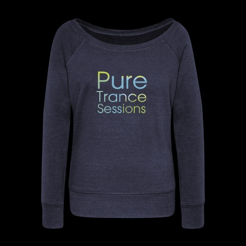 pts text hd - Women's Boat Neck Long Sleeve Top