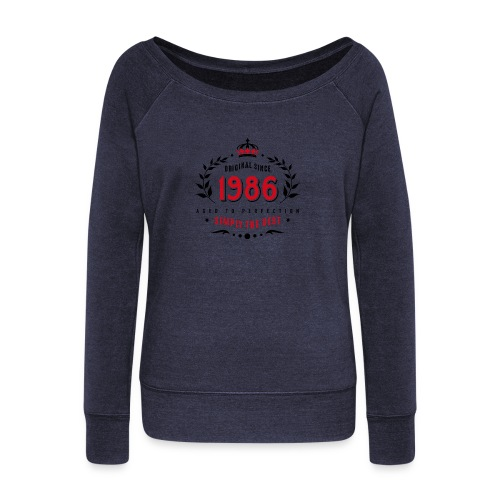 original since 1986 simply the best 30th birthday - Women's Boat Neck Long Sleeve Top