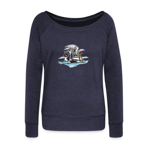 Birds of a Feather - Women's Boat Neck Long Sleeve Top