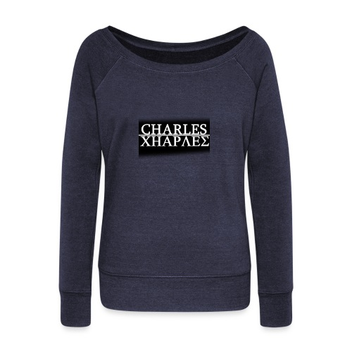 CHARLES CHARLES BLACK AND WHITE - Women's Boat Neck Long Sleeve Top