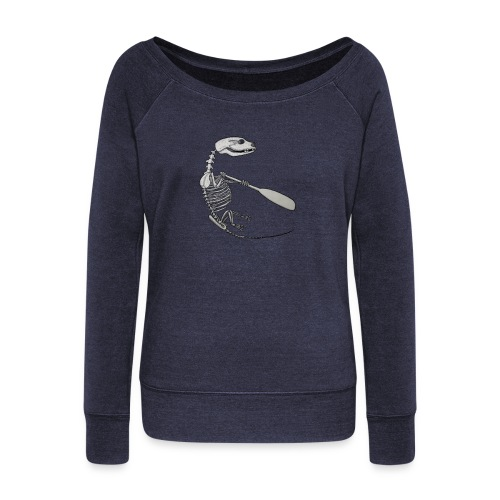 Skeleton Quentin - Women's Boat Neck Long Sleeve Top