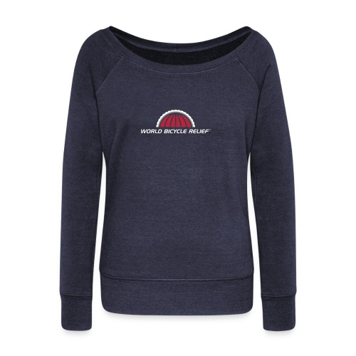 WBR Logo - Women's Boat Neck Long Sleeve Top