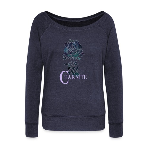 House Charnite - Women's Boat Neck Long Sleeve Top