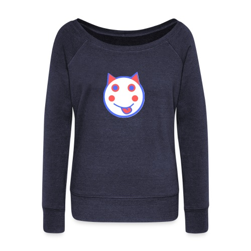 Red White And Blue - Alf Da Cat - Women's Boat Neck Long Sleeve Top
