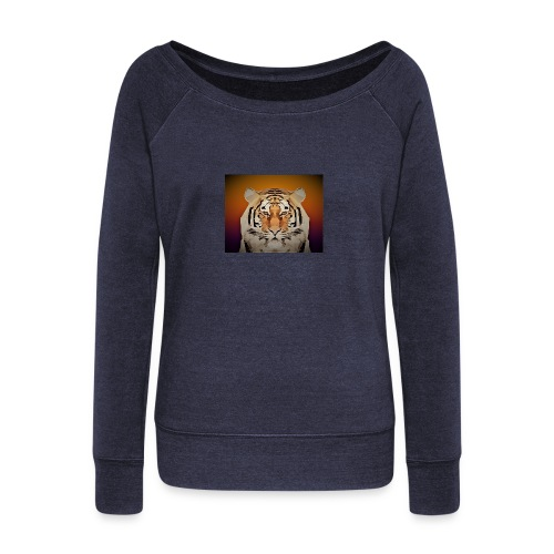 TIGER copy jpg edited windows - Women's Boat Neck Long Sleeve Top