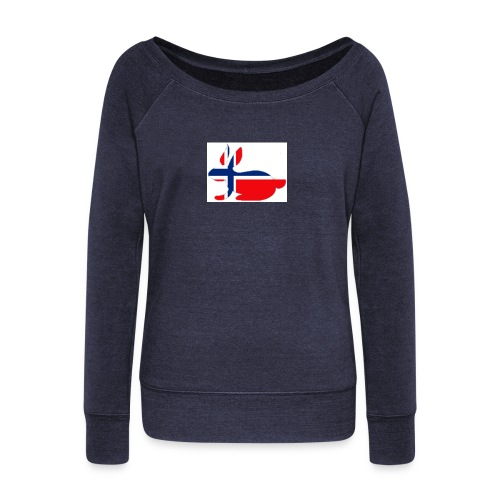 bunny_NY_LOGO_LI - Women's Boat Neck Long Sleeve Top