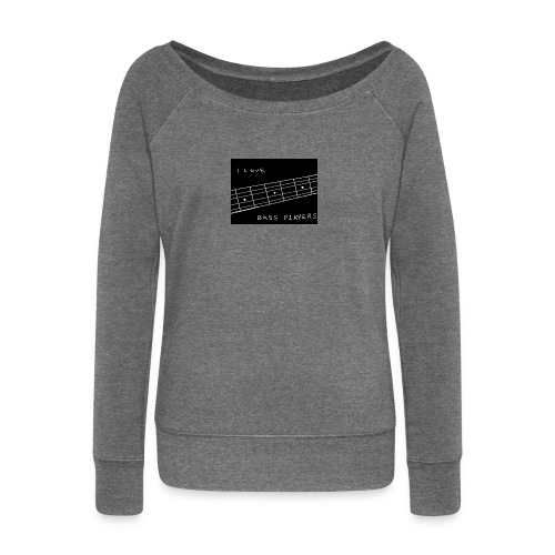 I Love Bass Players - Women's Boat Neck Long Sleeve Top