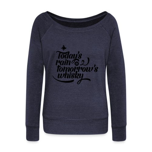 Todays's Rain Women's Tee - Quote to Front - Women's Boat Neck Long Sleeve Top