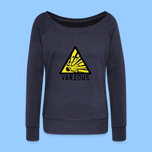 VariousExplosions Triangle (2 colour) - Women's Boat Neck Long Sleeve Top