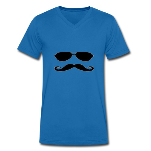 Animated Mustache - Ekologisk T-shirt med V-ringning herr från Stanley & Stella