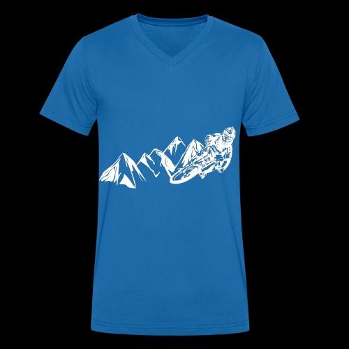Downhill/ Freeride/ Dirt/ BMX - Männer Bio-T-Shirt mit V-Ausschnitt von Stanley & Stella