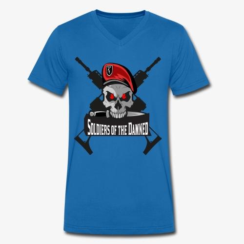 Soldiers of the Damned Clan Logo - Männer Bio-T-Shirt mit V-Ausschnitt von Stanley & Stella
