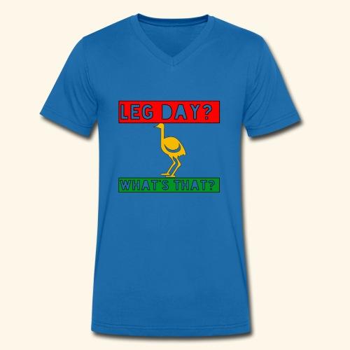 leg day - Männer Bio-T-Shirt mit V-Ausschnitt von Stanley & Stella