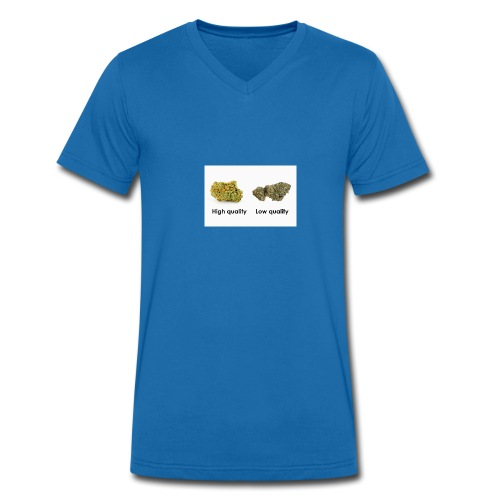 High Quality Weed - Men's Organic V-Neck T-Shirt by Stanley & Stella